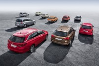 10 generations of Opel compact station wagons