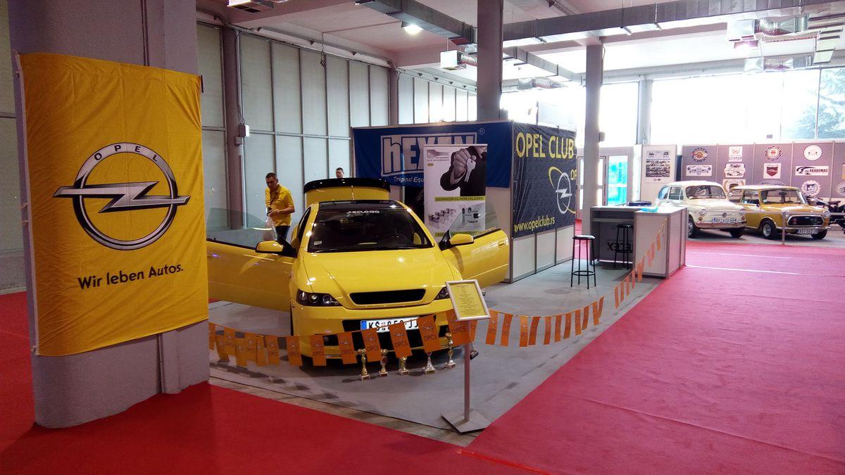 Opel klub Srbija štand na BG car show 2016