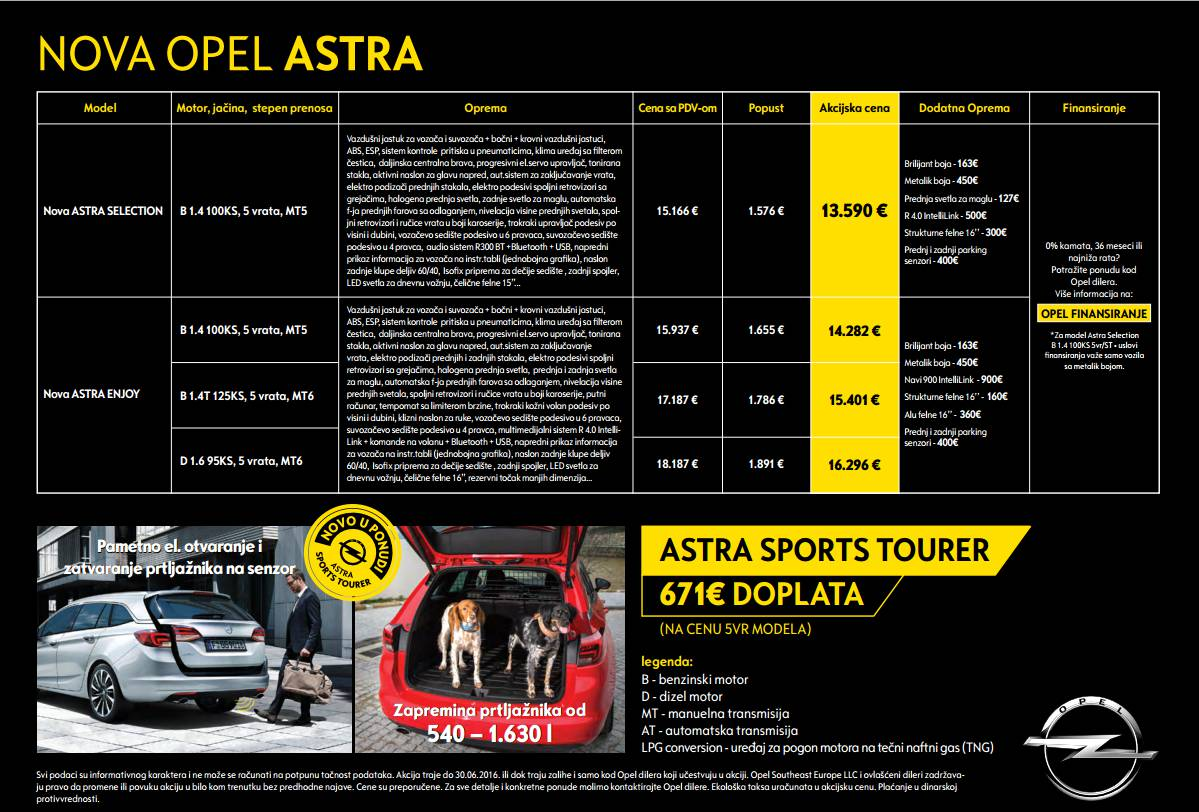 promocija nove Opel Astre